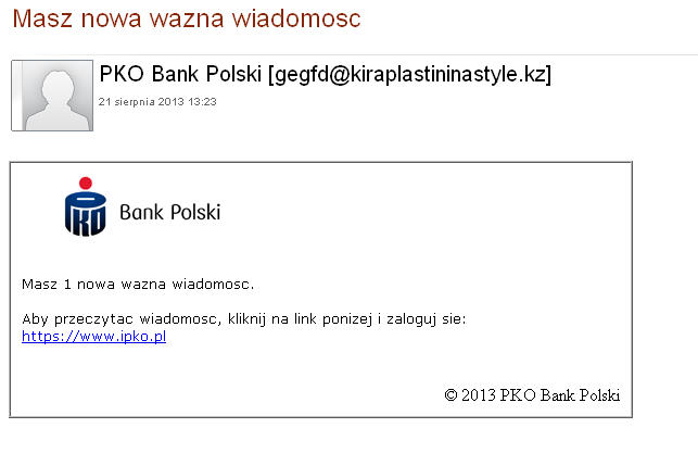 PKO BP Phishing