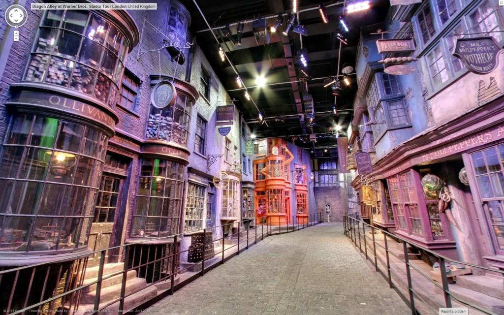 Street View we wnętrzu studia Warner Bros. Scenografia, gdzie kręcono Harrego Pottera