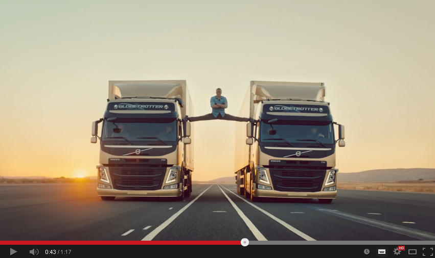 YouTube Rewind 2013: Reklama Volvo z Jean-Claude Van Damme