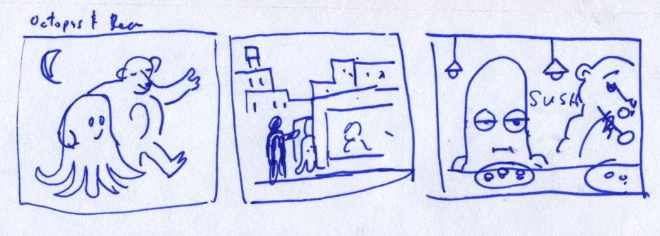 Szkic animacji Doodle na walentynki 2013