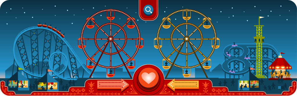 Google Doodle na walentynki 2013 - finalna wersja