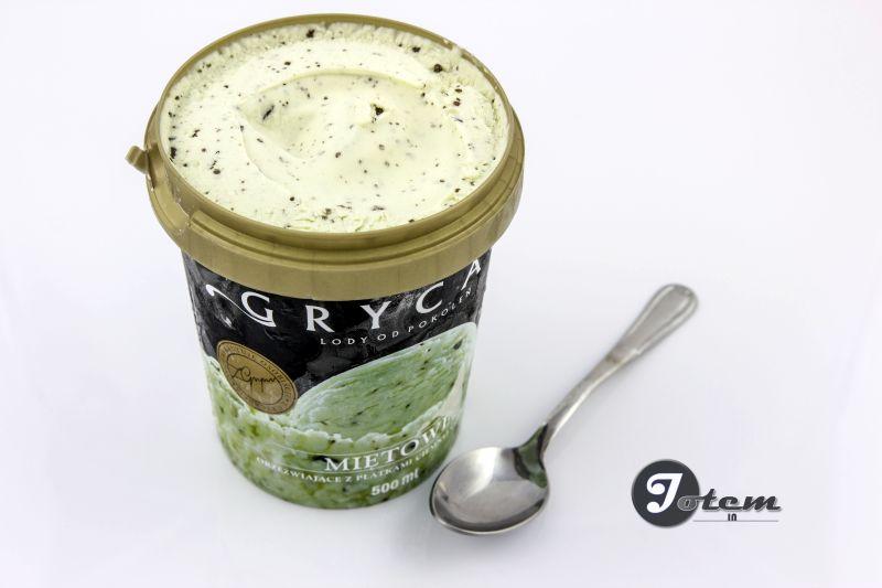 Miętowe lody Grycan