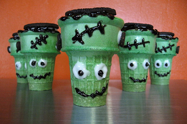 Babeczka Frankenstein na Halloween