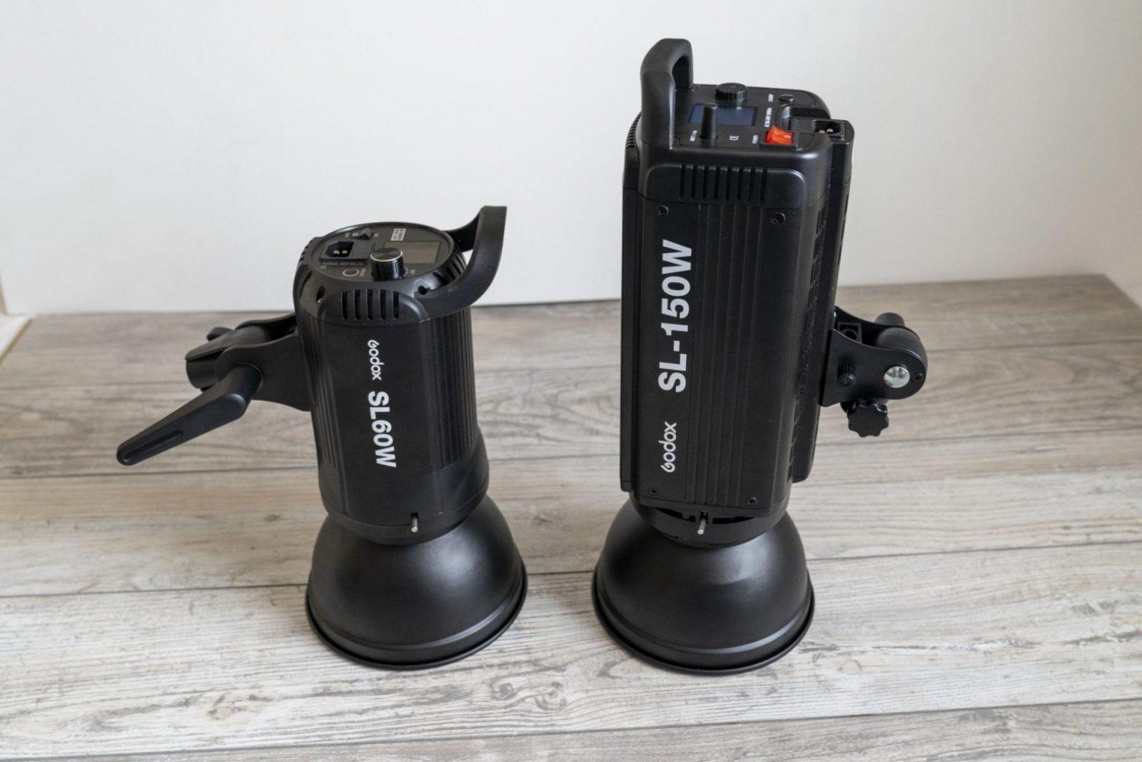 Godox SL-60 - porównanie wielkości z SL-150